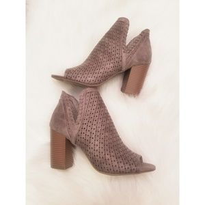 New! Fergalicious peep toe booties